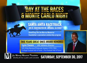 9/30/17 | Jim Murray Memorial Foundation Annual Award Ceremony and Day at the Races